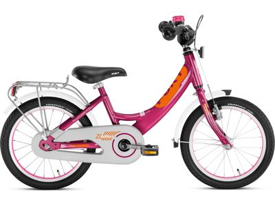 "Puky - Pigecykel - ZL 16 Alu Edition 16"" i alu - Kirsebær/orange"