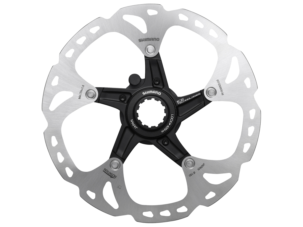 Image of   Shimano Ice-Tech RT-EM800 - Rotor 180 mm med Ice-Technologi - Til center lock