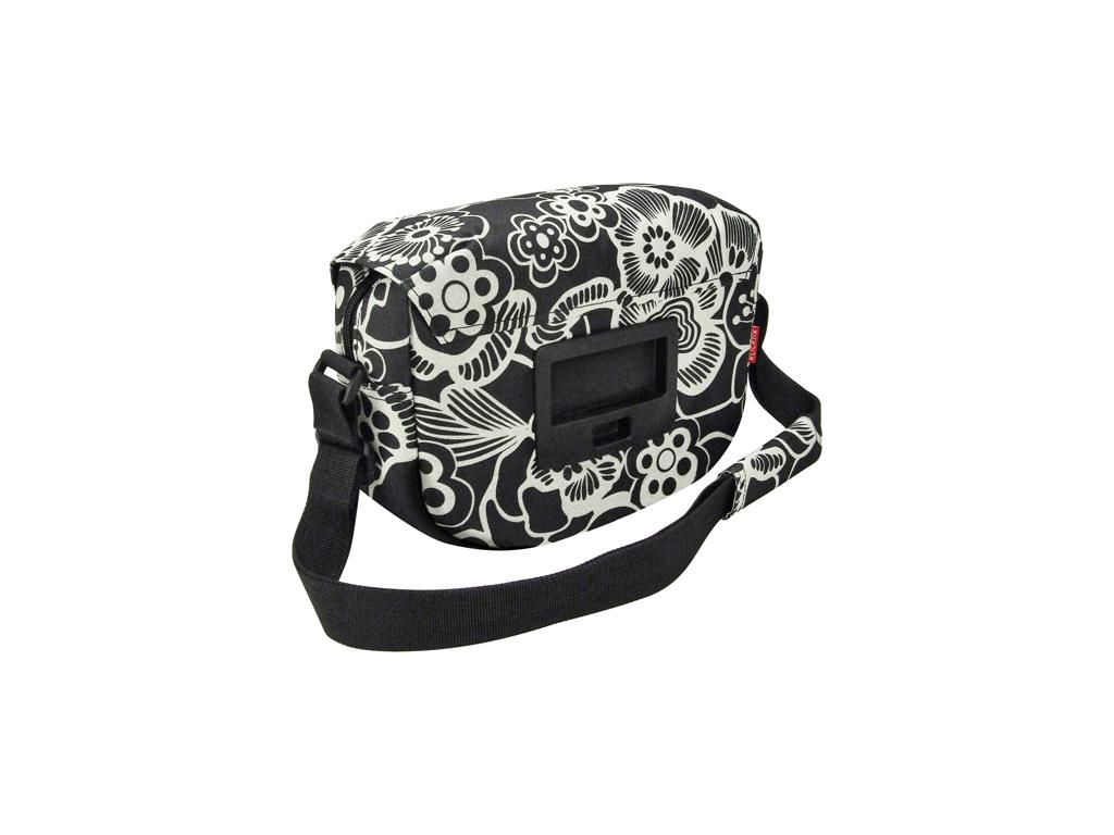 KLICKfix - Fun Bag - Svart med blommor 4 liter