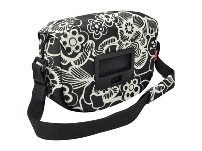 KLICKfix - Fun Bag - Sort med blomster 4 liter