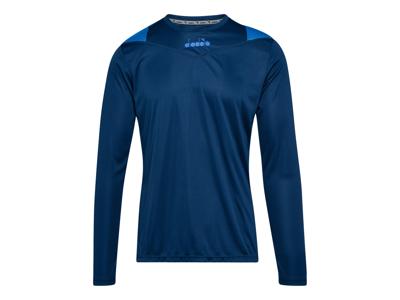 Diadora X-Run LS T-Shirt - Lange Ærmer Herre - Blå