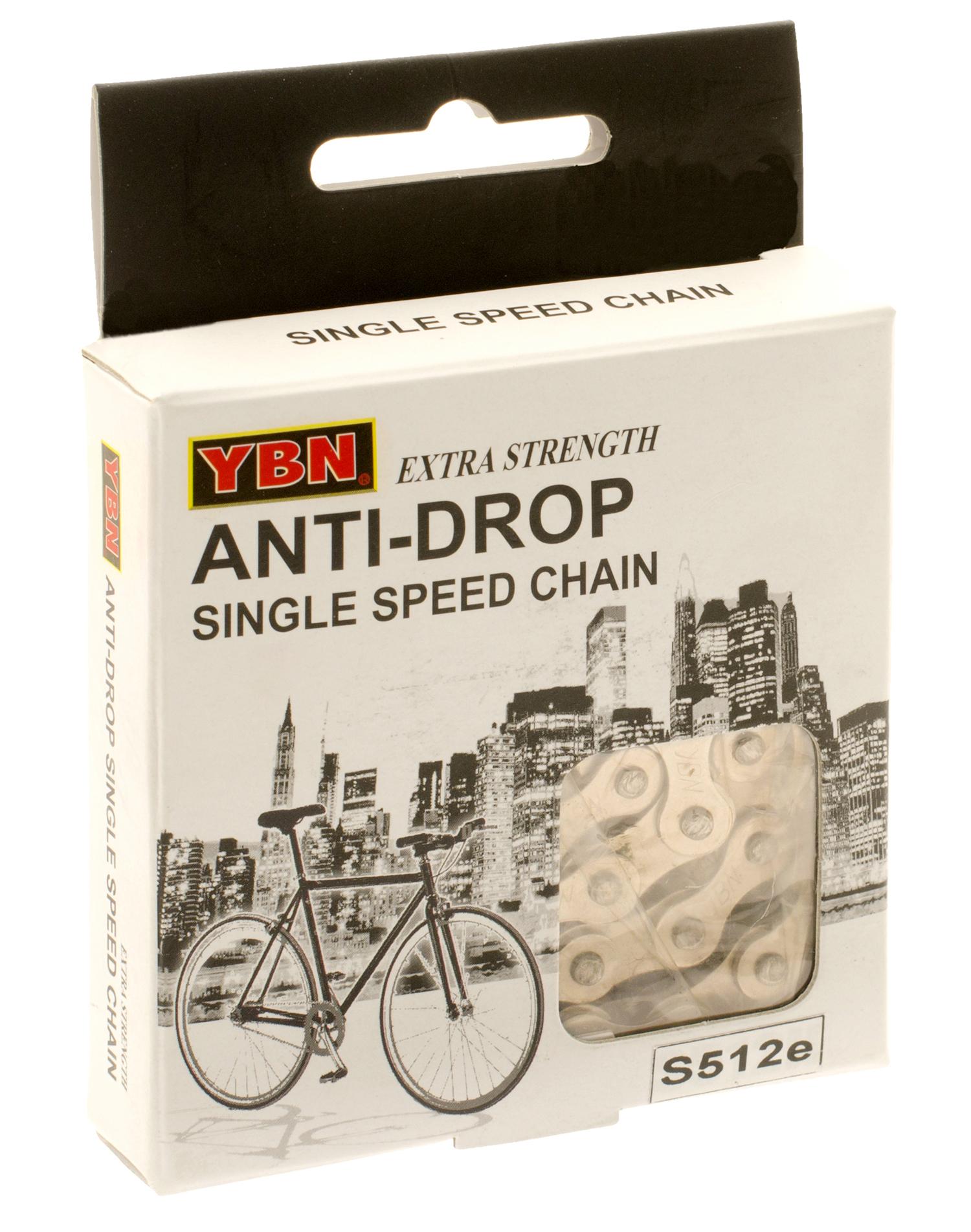 YBN kæde Anti Rust S512eRB til E-bike - 1/2 x 1/8