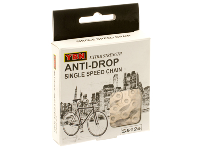 "YBN kæde Anti Rust S512eRB til E-bike - 1/2 x 1/8"" single speed"