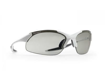 Demon 832 DCHROM - Løbe- og cykelbrille med fotokromisk linse - Carbon look/hvid