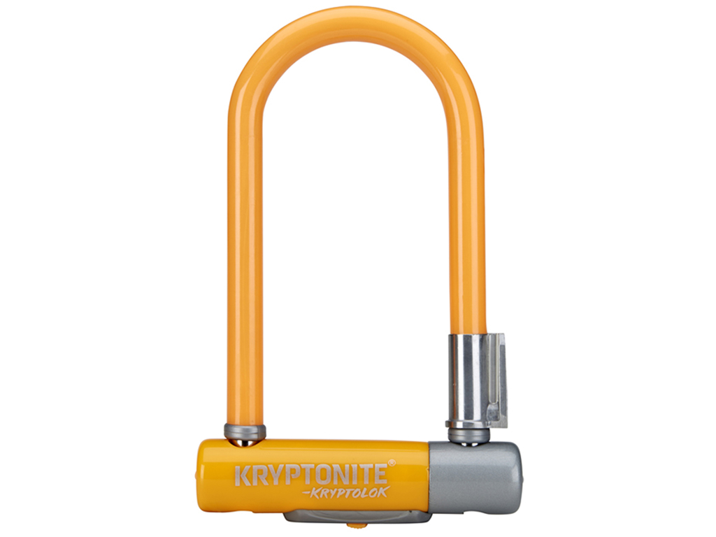 Image of   Kryptonite bøjlelås - Kryptolok 2 Mini 7 - U-Lock 8,2x17,8cm - Orange