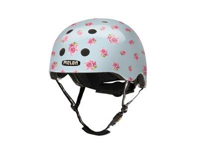 Melon Flying Roses - Cykelhjälm - Ljusblå med rosor