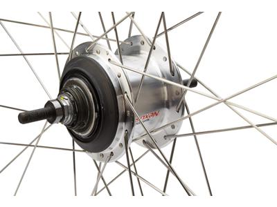 Bakhjul med shimano nexus 7 växlar till rullbroms svart Ryde Zac19 fälg