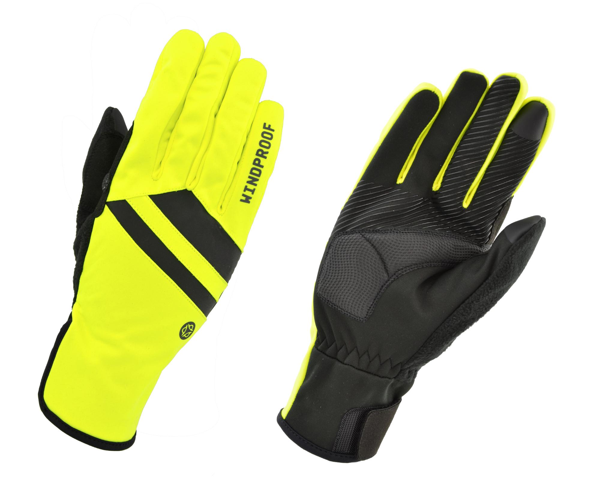 AGU Essential Vindtætte Handsker - Gul Fluo | Gloves