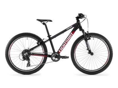 "Eightshot X-Coady 24 SL - MTB Børnecykel 24"" - Sort/rød/hvid"