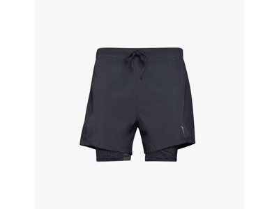Diadora - Double Layer Bermuda - Løbeshorts - Sort