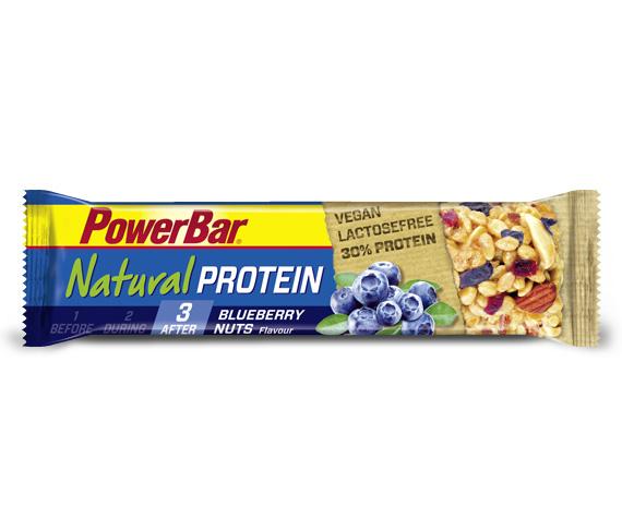 Powerbar Natural Protein - Blåbær og Nødder 40 gram   Proteinbar og -pulver