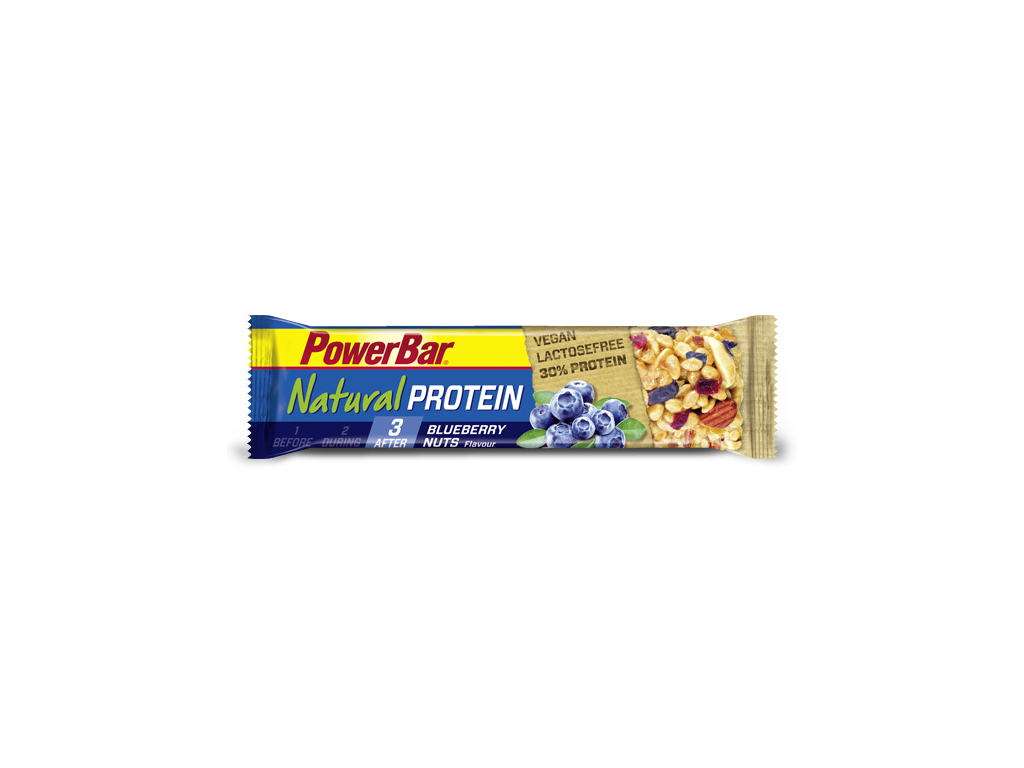Image of   Powerbar Natural Protein - Blåbær og Nødder 40 gram