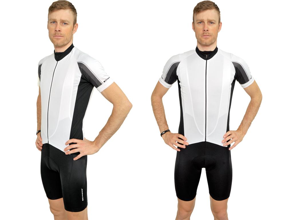 Xtreme X-Rapid Cykeltrøje Hr. - Str. XXL - Hvid