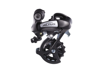 Bagskifter Shimano Altus 3 x 7 gear eller 3 x 8 gear Sort