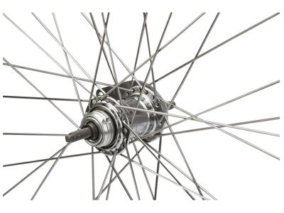 Connect - Bakhjul - 28 x 1 1/2 - Stålfälg rostfritt - 1 växel