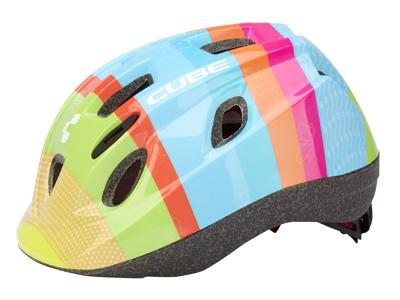Cube Kids Bunt børnecykelhjelm - Multifarvet - Str. 48-52