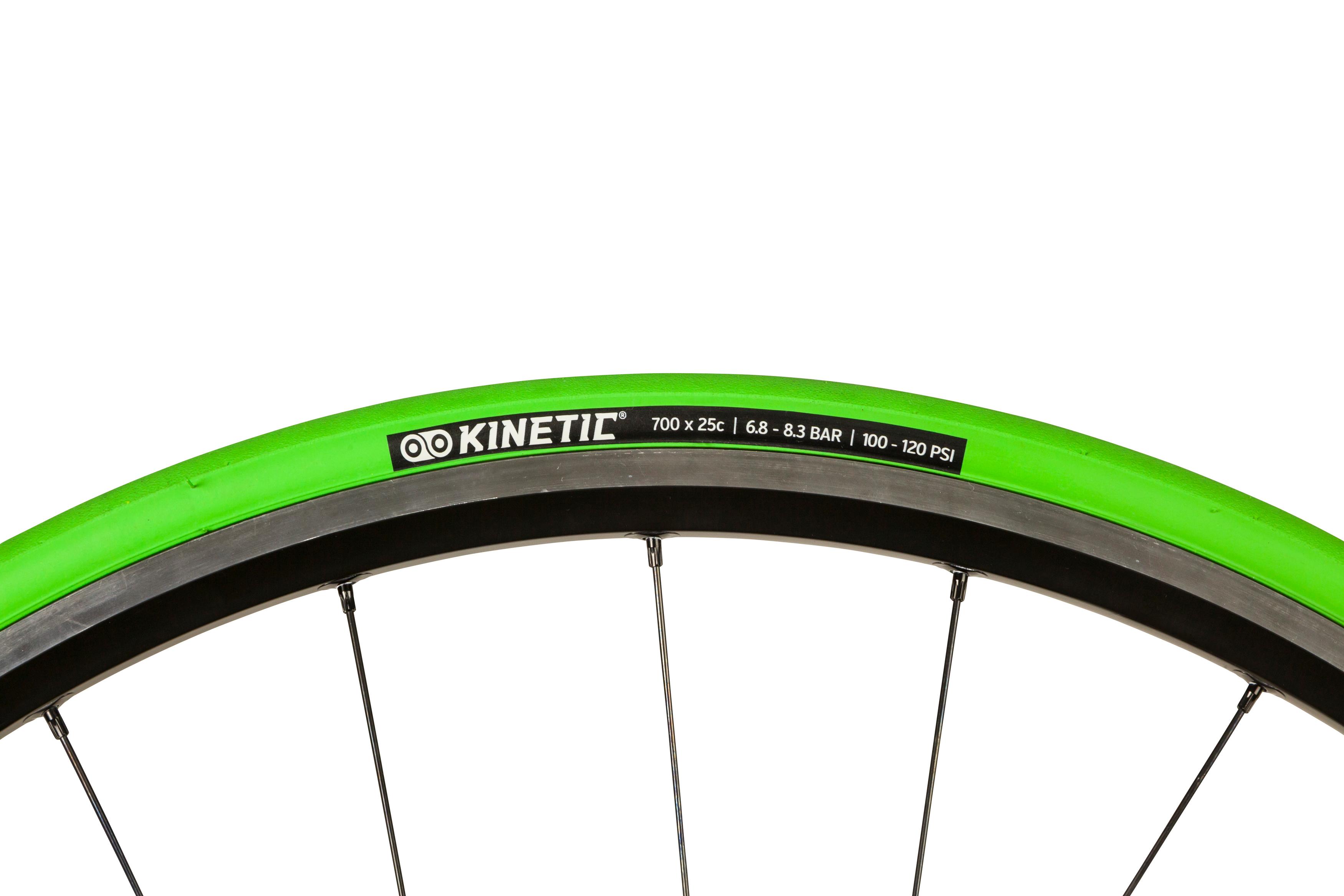 Kinetic hometrainer foldedæk - 700x25c - Grøn | Tyres