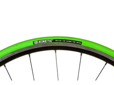 Kinetic hometrainer foldedæk - 700x25c - Grøn