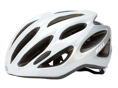 Bell Draft - Cykelhjelm  - Str. 54-61 cm - Sølv/hvid