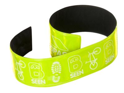 Trespass Snapper - Reflekterende buksebånd - Slap wrap - Hi-vis grøn - 32 cm - 2 stk.