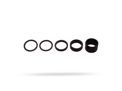 """PRO Spacer sæt - Til styrfittings 1 1/8"""" - Aluminium - 2-2,5-5-10 og 20mm høje"""