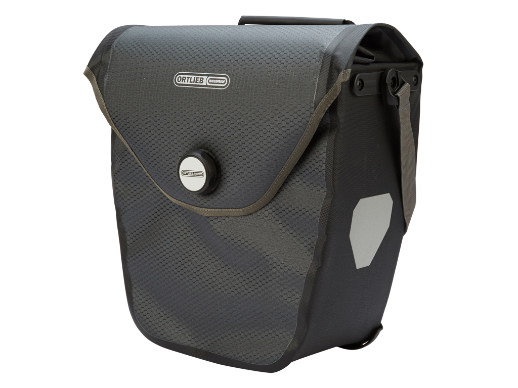 Image of   Cykeltaske Ortlieb Velo-Shopper grå/sort 20 liter