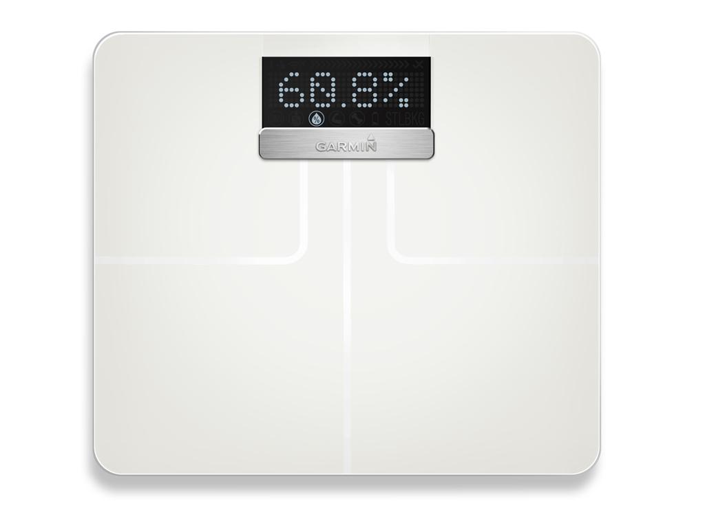 Image of   Garmin Index Smart Scale - Vægt der bl.a måler kropsfedt, vand og BMI - Hvid