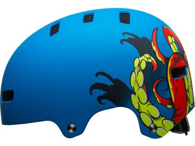 Bell Span - Cykel- og skaterhjelm - Mat blå med motiv