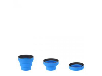 LifeVenture Ellipse Collapsible Cup - Silicone - Blå