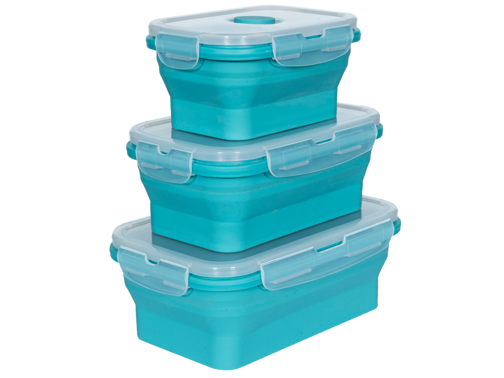 Trespass Lunchset - Silicone madkasse sæt - Lagoon thumbnail