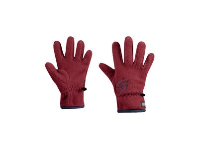 Jack Wolfskin Baksmalla - Fleece handske - Børn - Dark lacquer red
