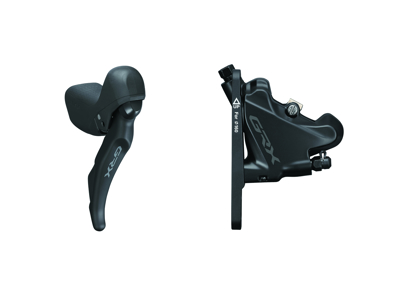 Shimano GRX - STI-greb, bremsekaliber og olieslange - 11 gear - Hydraulisk - RX600/RX400