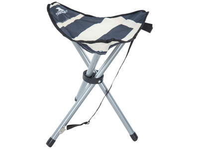 Trespass Ritchie - Foldbar camping-mini-stol - Navy Stripe