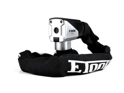 Etook - ET555XL  -  Kædelås - 8 mm - 110 cm lang - Med 2 nøgler - Sort