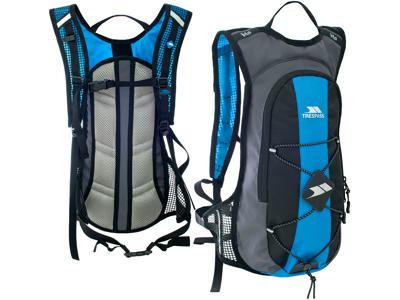 Trespass Mirror - Drickryggsäck - 15 liter inkl. 2 liter behållare - Svart/blå