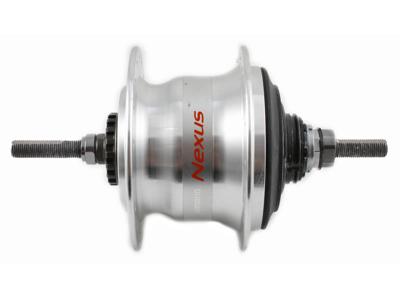 Shimano Nexus - Bagnav med 7 gear og friløb og til rullebremse - Type SG-C3000-7R - Sølv