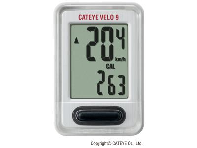 Cateye Computer Velo 9 Hvid CC-VL820