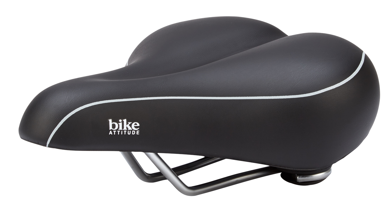 Bike Attitude - Cykelsadel - komfort lux med gel - Sort   Saddles