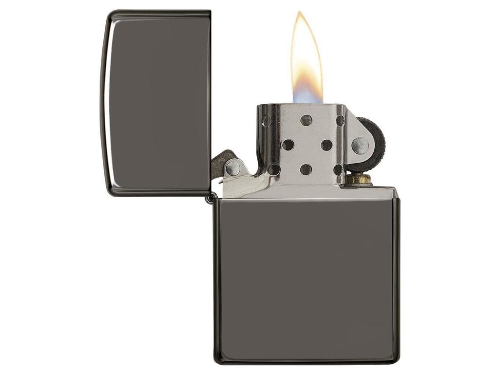 Zippo Black Ice - Lighter - Sort/sølv thumbnail