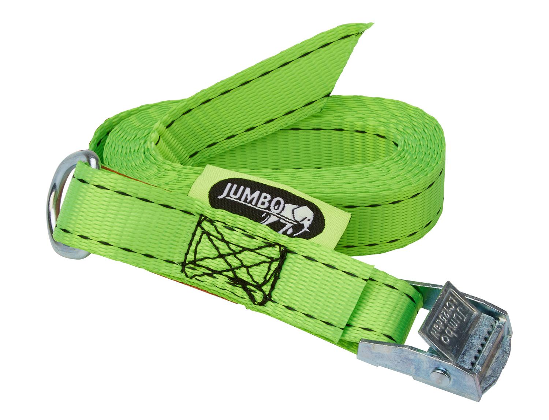 Jumbo strop til bagagerumsklap - Med ring og Quickstrammer - Grøn   Sko > Tilbehør