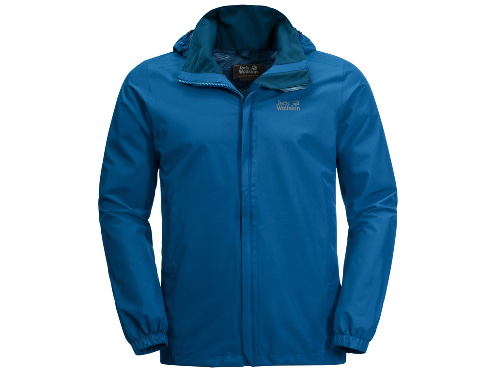 Jack Wolfskin Stormy Point Skaljakke - Hr. Str. M - Electric Blue thumbnail