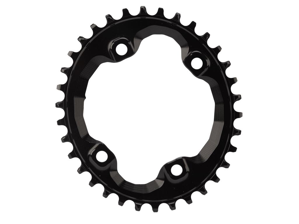 absoluteBLACK Oval klinge - Shimano - BCD: ø96 - 4 huller - 34 tænder - Sort thumbnail