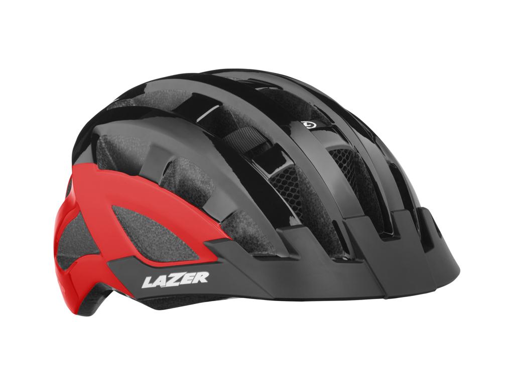 Lazer Compact DLX MIPS - Cykelhjelm Urban - Str. 54-61 cm - Sort/Rød