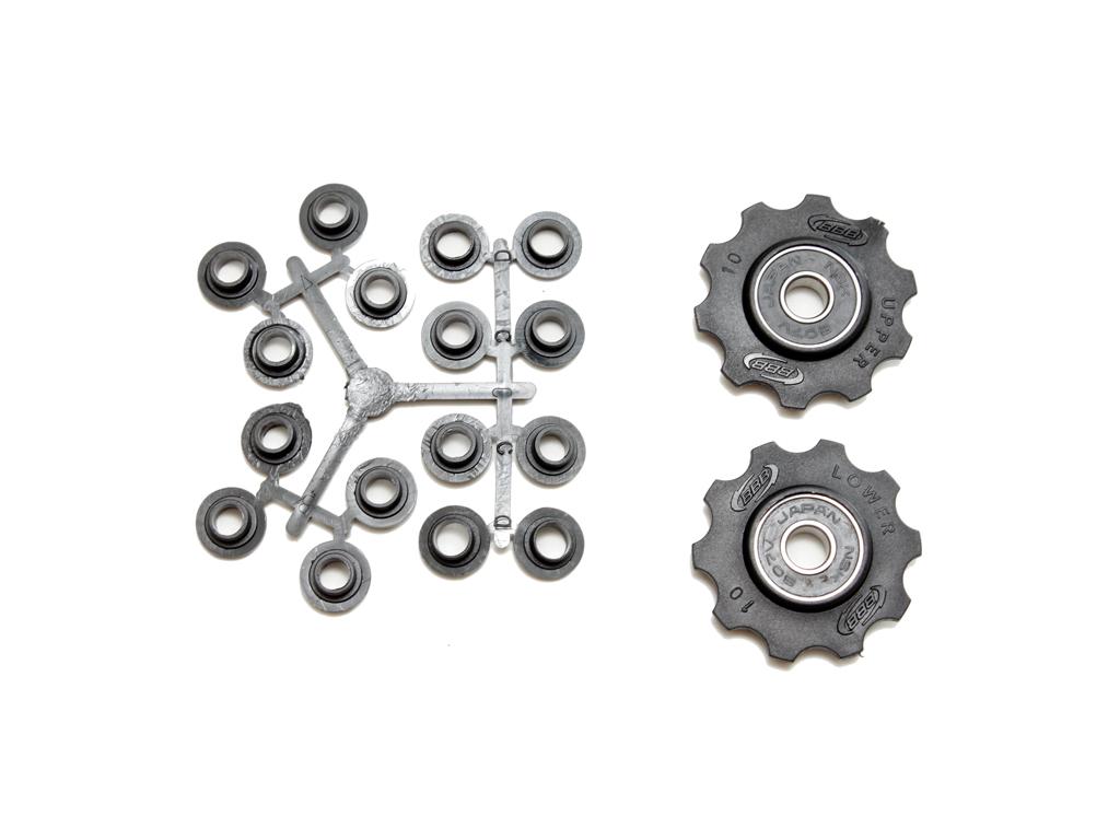 Image of   BBB pulleyhjul 10 tands med ABEC-3 lukkede lejer - Rollerboys 2 stk