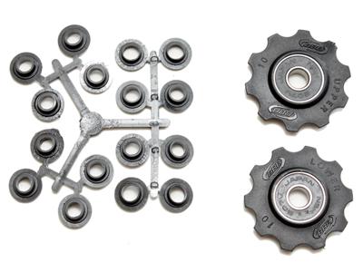 BBB pulleyhjul 10 tands med ABEC-3 lukkede lejer - Rollerboys 2 stk
