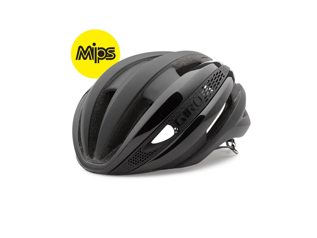 Giro Synthe Mips - Cykelhjelm - Mat Sort thumbnail