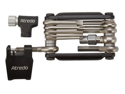 Atredo - Multitool - 12 funktioner - Med co2 inflator og kædeadskiller