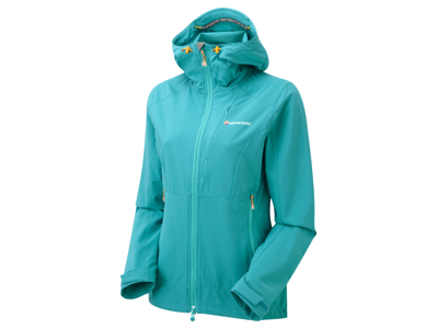 Montane Womens Dyno Stretch Jacket - Softshell Dame - Blå