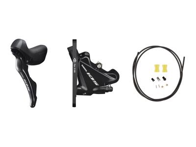 Shimano 105 STI og hydraulisk bremsegreb venstre sort - ST-R7020L og BR-R7070F