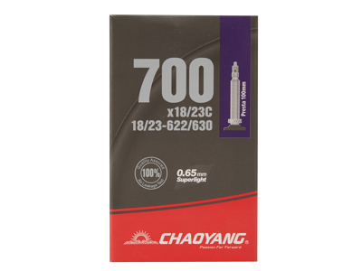 Chaoyang Superlight slange - 700x18-23c - 100mm racerventil